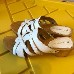 Beautiful White Naturalizer Sandals.